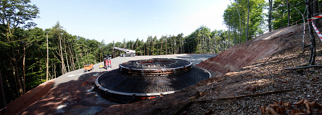 WEA Baustelle im Göllheimer Wald am 09.06.2014